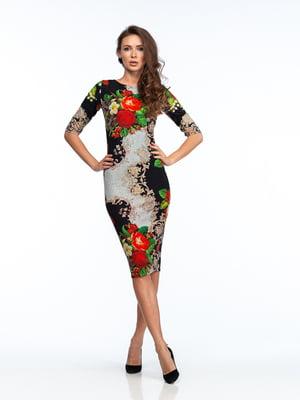 Платье разноцветное в принт   5635684