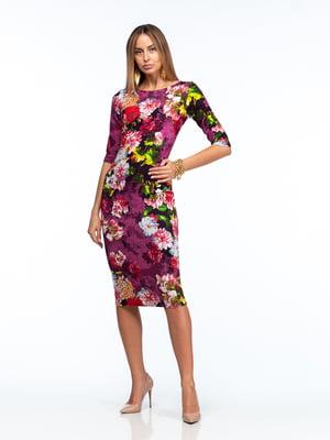 Платье разноцветное в принт   5635686