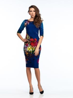 Платье разноцветное в принт | 5635690