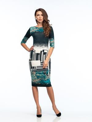 Сукня різнокольорова з малюнком | 5635696