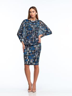 Платье разноцветное в принт   5635708