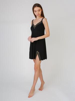 Рубашка ночная черная | 5546512