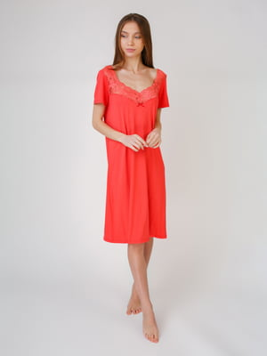 Рубашка ночная кораллового цвета | 5546480
