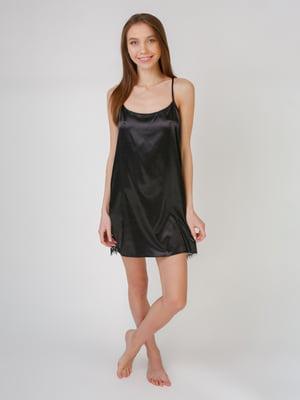 Рубашка ночная черная | 5631513