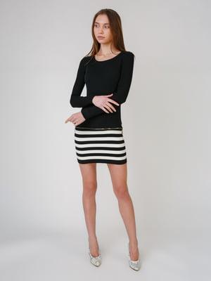 Сукня чорна з смужками | 5631552