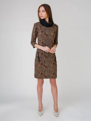 Сукня коричнева в принт   5631539