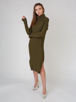Сукня кольору хакі   5631584