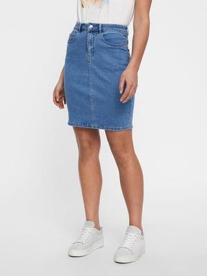 Юбка джинсовая синяя | 5635585