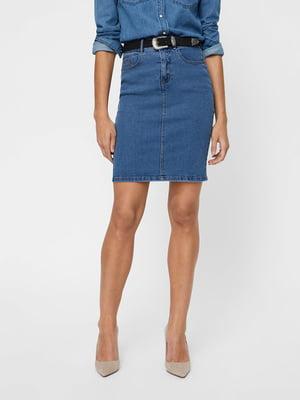 Юбка джинсовая синяя | 5635586