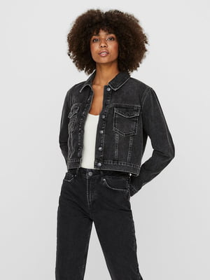 Куртка джинсова темно-сіра | 5635600