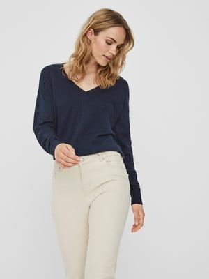 Пуловер темно-синий | 5635595