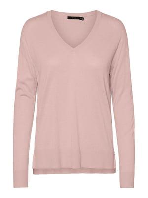 Пуловер бузкового кольору | 5635596