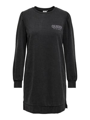 Платье черное с принтом | 5635654