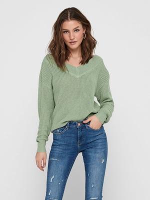 Пуловер м'ятного кольору | 5635609