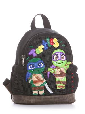Рюкзак чорний з малюнком | 5636581