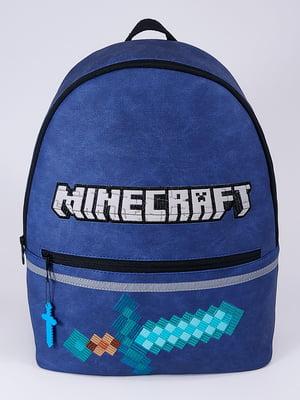 Рюкзак синій з принтом   5636594