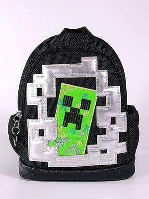 Рюкзак черный с принтом   5636597