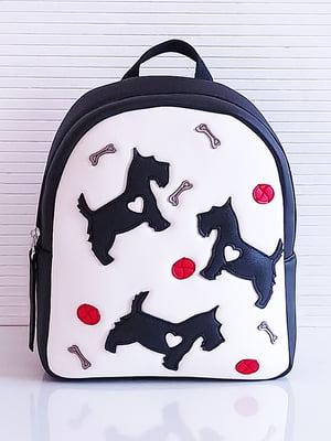 Рюкзак бело-черный с рисунком | 5636614