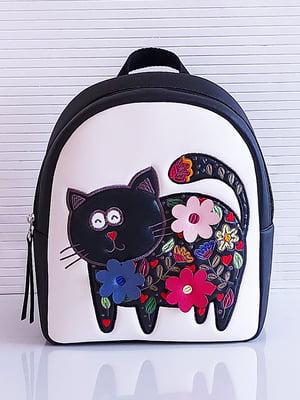 Рюкзак черно-белый с рисунком | 5636615