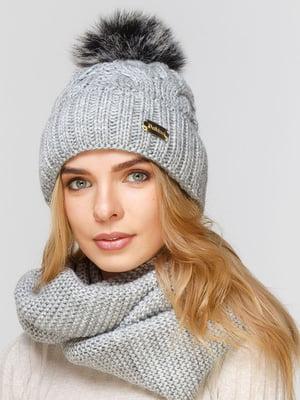 Комплект: шапка і шарф-снуд | 5640542