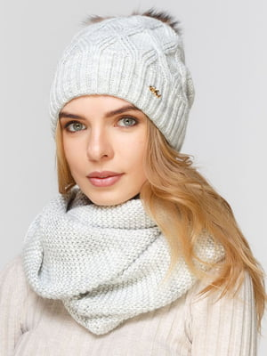 Комплект: шапка і шарф-снуд | 5640598