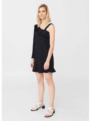 Платье с асимметричным декольте | 5448360
