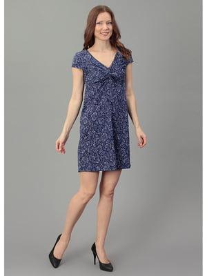 Сукня синя в принт   5521649