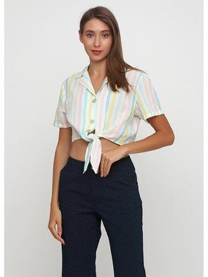 Рубашка белая в полоску   5526464