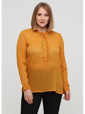 Блуза горчичного цвета | 5549898