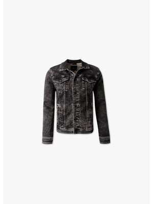 Куртка темно-сіра джинсова | 5550114