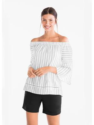 Блуза белая в полоску | 5550194