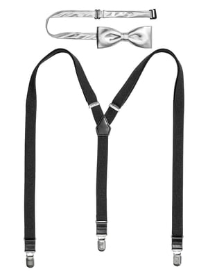 Комплект: подтяжки и галстук-бабочка | 5554654