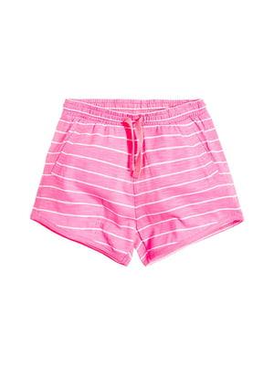Шорти рожеві в смужку | 5554904