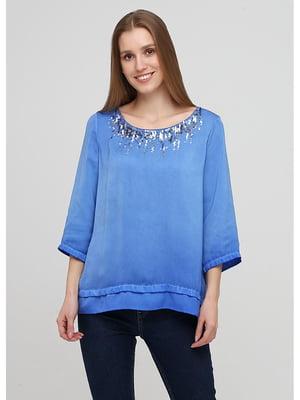 Блуза синяя   5572093