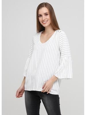 Блуза белая в полоску   5572094