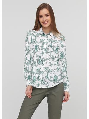 Рубашка белая с принтом | 5587279