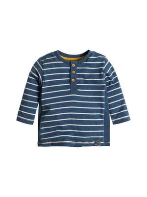 Джемпер синій в смужку | 5587393