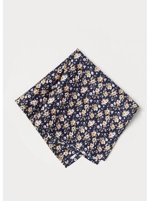 Платок черный с цветочным принтом | 5592670