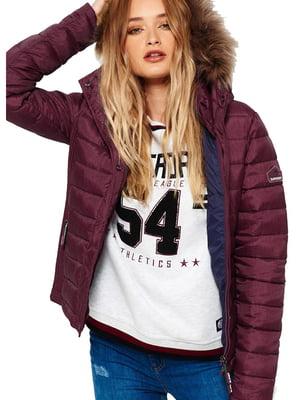 Куртка бордовая | 5593009