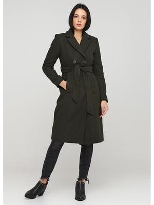Пальто кольору хакі | 5597407