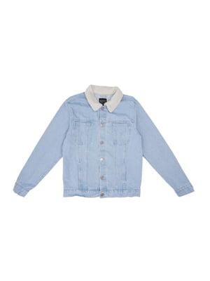 Куртка блакитного кольору | 5597614