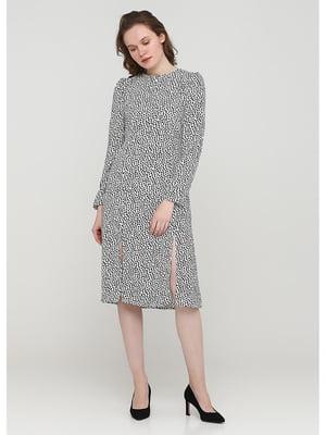 Сукня біла з принтом | 5597741