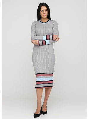 Сукня сіра в смужку | 5598113