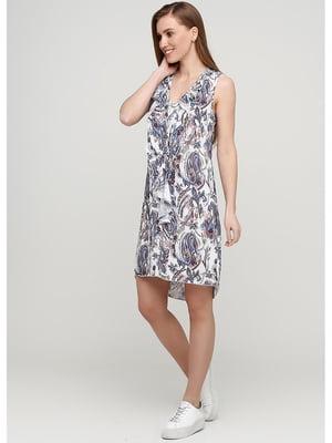 Сукня біла з принтом | 5600855