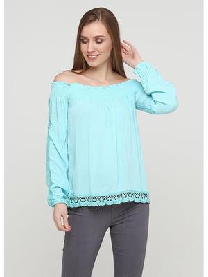 Блуза бирюзовая | 5600876