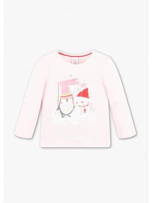Джемпер розовый с рисунком | 5637420