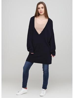 Пуловер-туника синий | 5638031
