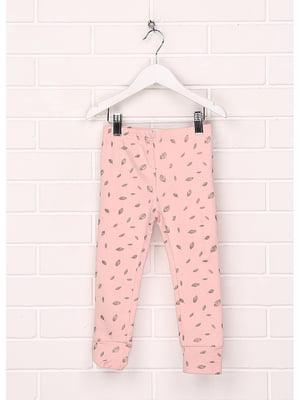 Штани рожеві в принт | 5638195