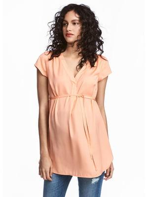 Блуза для вагітних помаранчева | 5638876