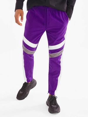 Брюки спортивные фиолетовые | 5639179